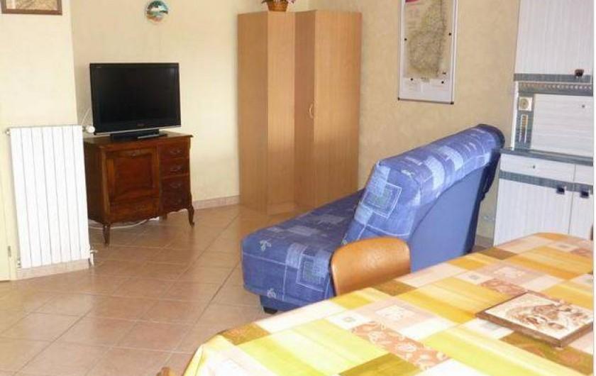 Location de vacances - Appartement à Étables - coin salon
