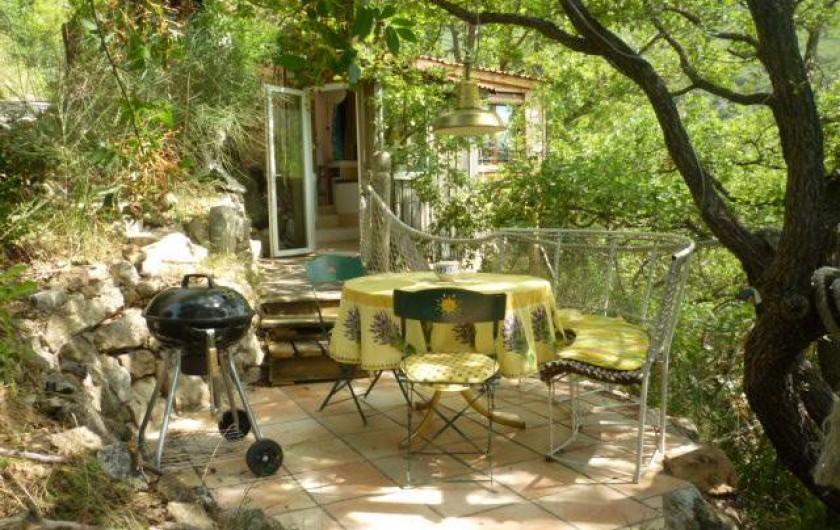 Location de vacances - Gîte à Saint-Privat - terrasse
