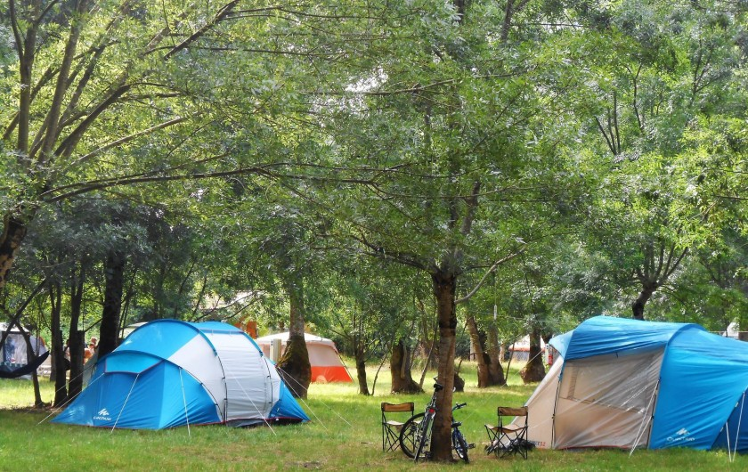espace camping ombragé