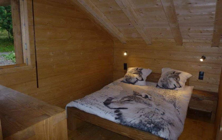 Location de vacances - Chalet à Le Praz de Lys - Chambre 2 lit 140 cm