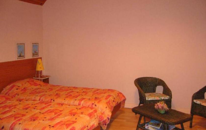 Location de vacances - Maison - Villa à Cléguérec - chambre 2 lits simple a l'étage