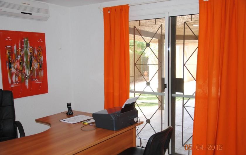 Location de vacances - Maison - Villa à Nianing - Le bureau... ne pas trop y aller, vous êtes en vacances!