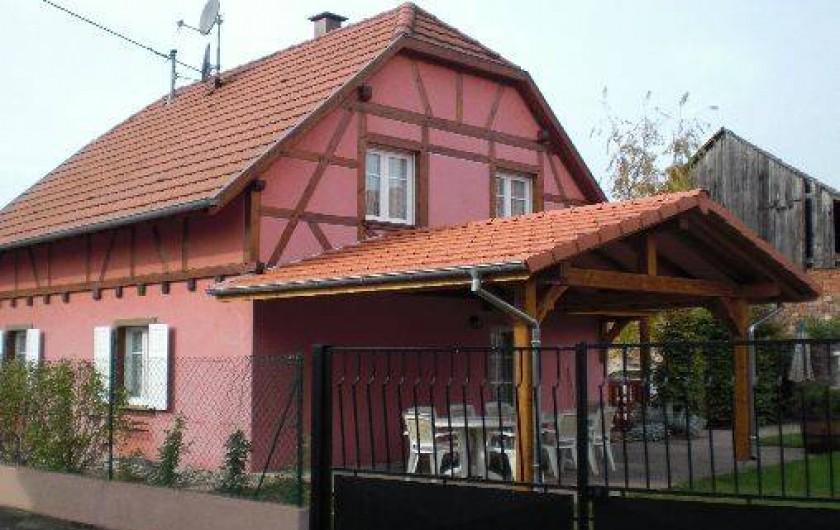 Location de vacances - Villa à Stotzheim - maison vue arrière
