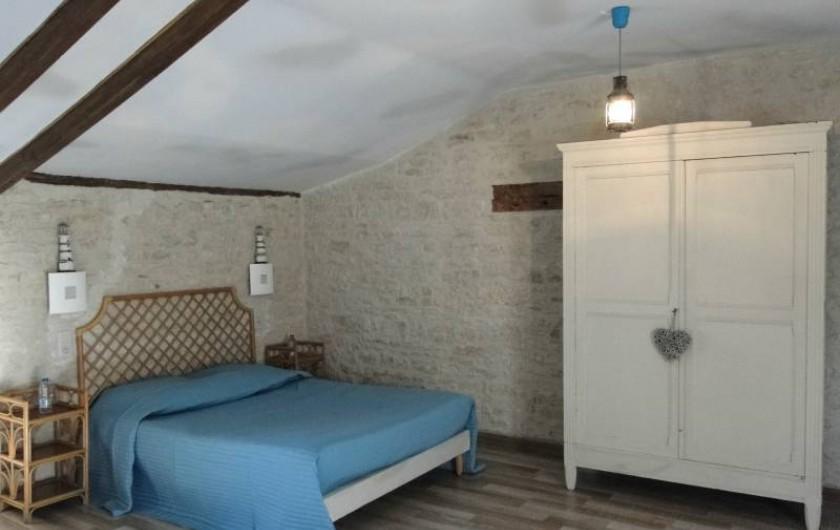 Location de vacances - Chambre d'hôtes à Andilly - La chambre Les Embruns : le lit des parents