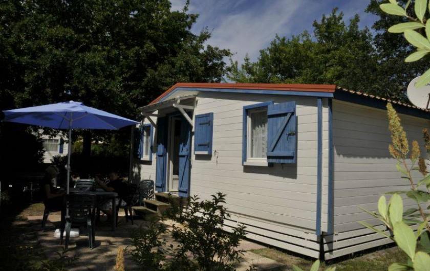 Location de vacances - Bungalow - Mobilhome à Biscarrosse - Chalet, 1 chambre lit double, 2ème chambre 2 lits simples superposés