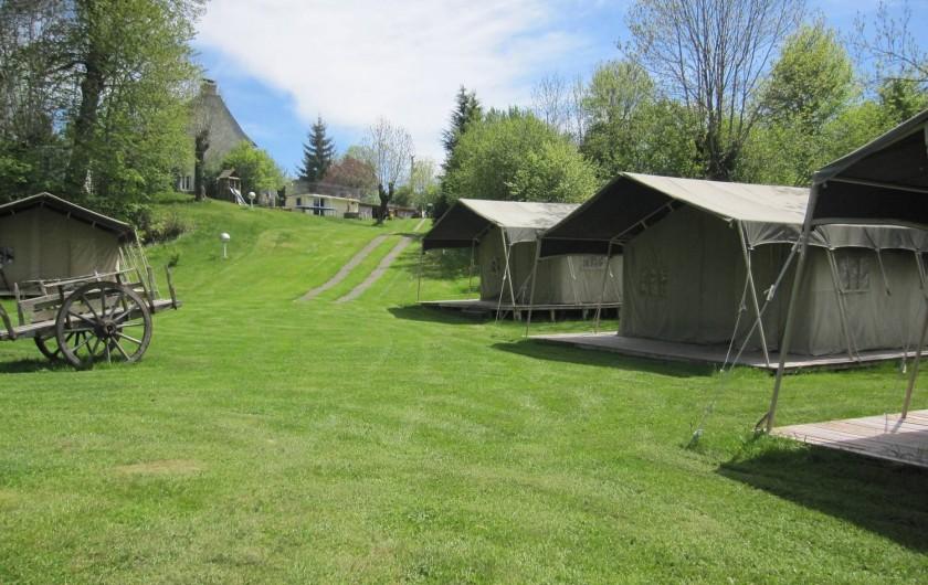 Location de vacances - Camping à Argences-en-Aubrac - TENTES SAFARI