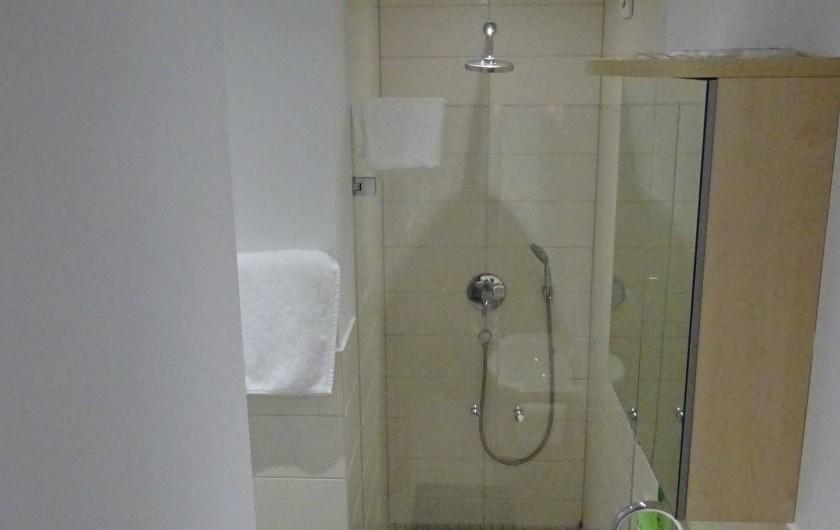 Location de vacances - Appartement à Linz am Rhein - Salle de bain avec douche, WC et lavabo