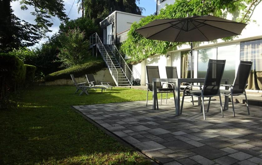 Location de vacances - Appartement à Linz am Rhein - Terrasse et jardin avec ameublement