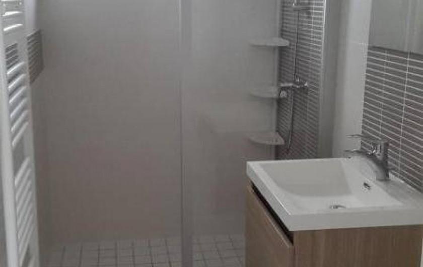 Location de vacances - Gîte à Bréhémont - salle d eau de la chambre n°1