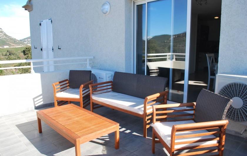 Location de vacances - Appartement à Oletta - la terrasse