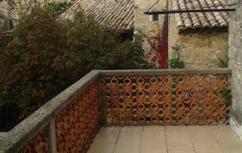 Location de vacances - Maison - Villa à Cornillon - terrasse étage