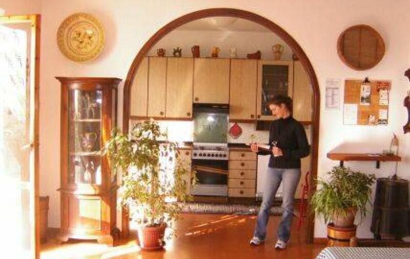 Location de vacances - Appartement à Reggello - Séjour-cuisine