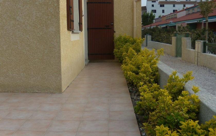 Location de vacances - Villa à Le Barcarès - Terrasse  nord