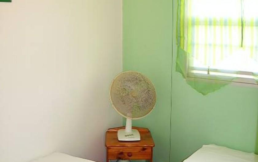 Location de vacances - Bungalow - Mobilhome à Sainte-Luce - CHAMBRE 2 PERS VENTILEE