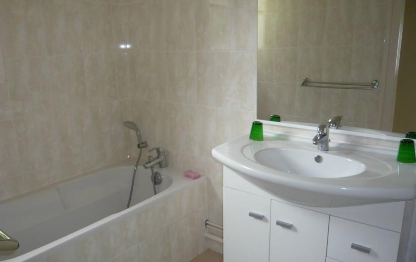 Location de vacances - Gîte à Azay-le-Rideau - salle de bain. Les wc sont indépendants