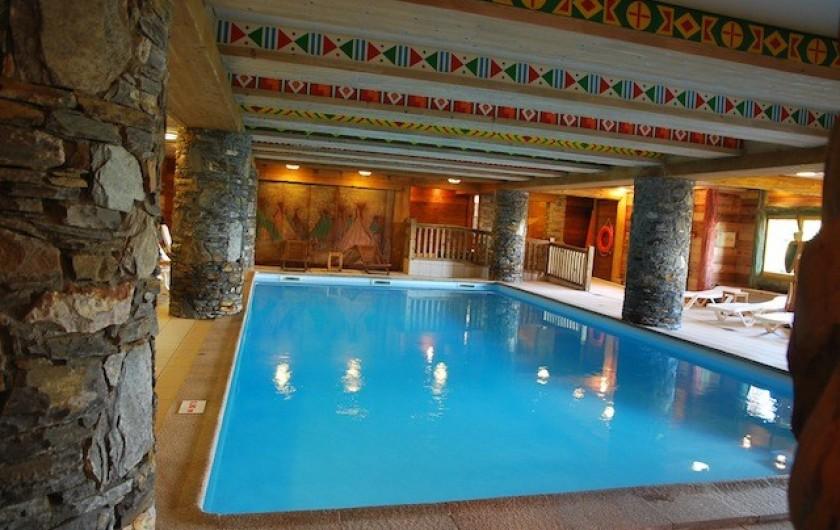 Location de vacances - Appartement à Arc 1800 - La piscine couverte et chauffée avec saunas et hammam est disponible au rdc