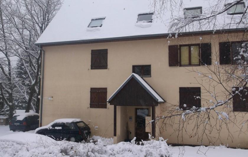 Location de vacances - Appartement à Labaroche - En hiver, la neige peut être au rendez-vous!