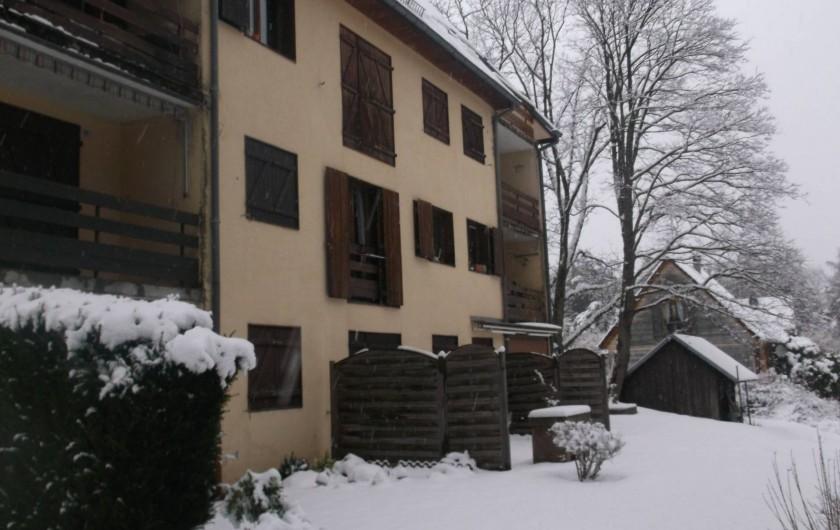 Location de vacances - Appartement à Labaroche - l'hiver....