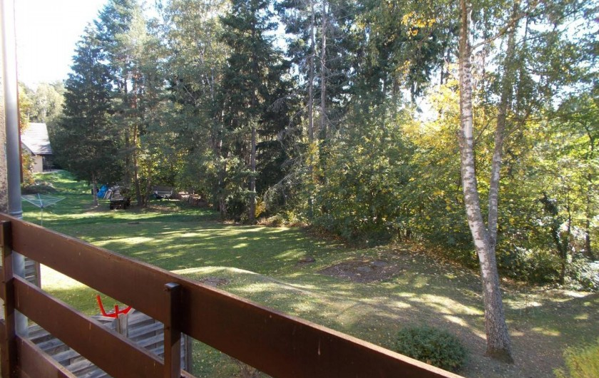Location de vacances - Appartement à Labaroche - la vue depuis le balcon.