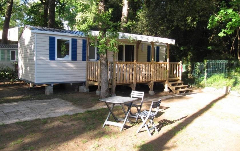 Location de vacances - Bungalow - Mobilhome à Saint-Brevin-les-Pins - Mobil-home et large emplacement