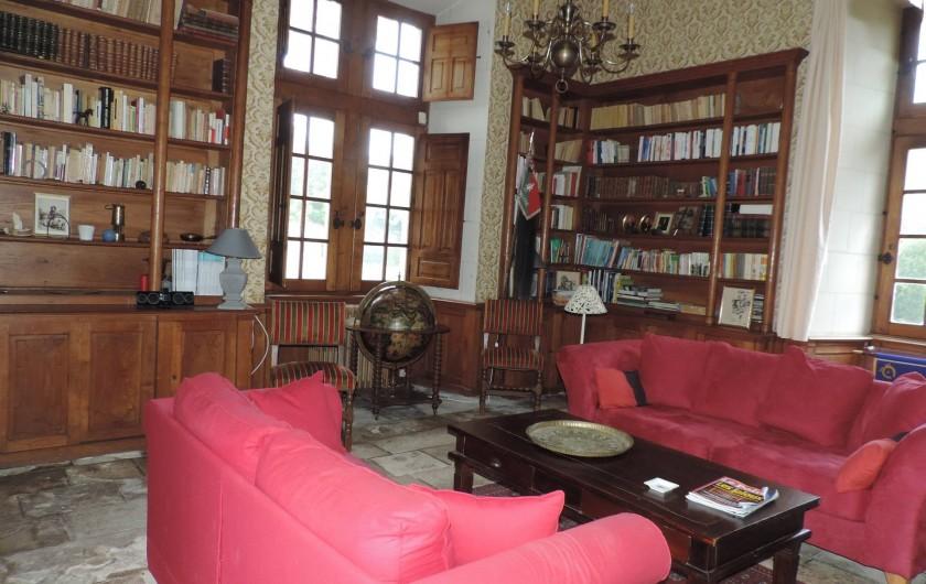 Location de vacances - Château - Manoir à Montreuil-Bonnin - Bibliothèque