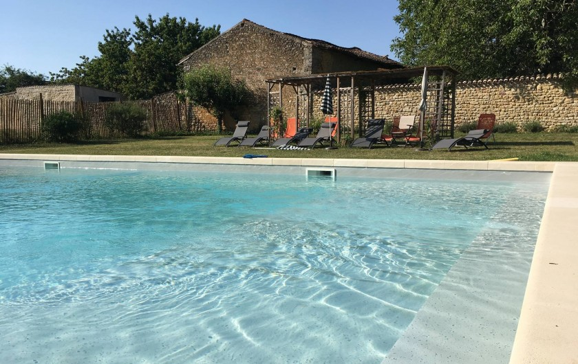 Location de vacances - Château - Manoir à Montreuil-Bonnin - Piscine