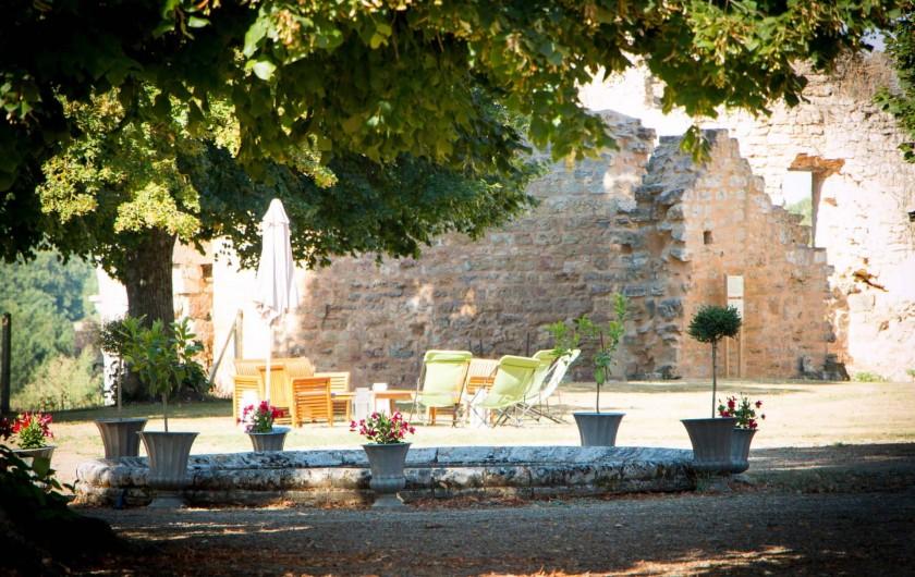 Location de vacances - Château - Manoir à Montreuil-Bonnin - terrasse et transats