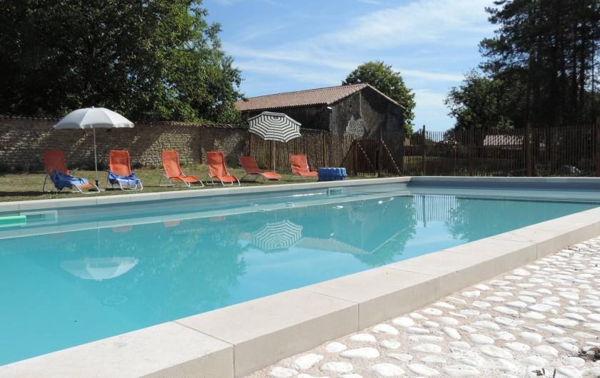 Location de vacances - Château - Manoir à Montreuil-Bonnin - Piscine privée et sécurisée de  6m X 12 m