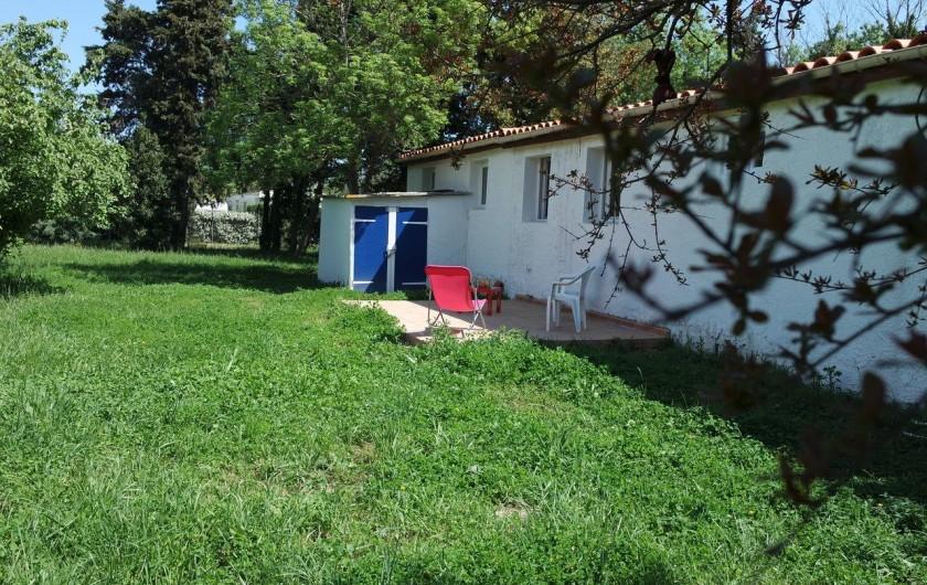 Location de vacances - Villa à Argelès-sur-Mer - Terrasse arrière