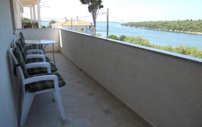 Location de vacances - Appartement à Veli Rat - La terrace