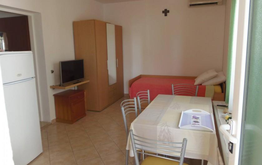 Location de vacances - Appartement à Veli Rat - 2 extra lits a la sale a manger et cuisine APT2