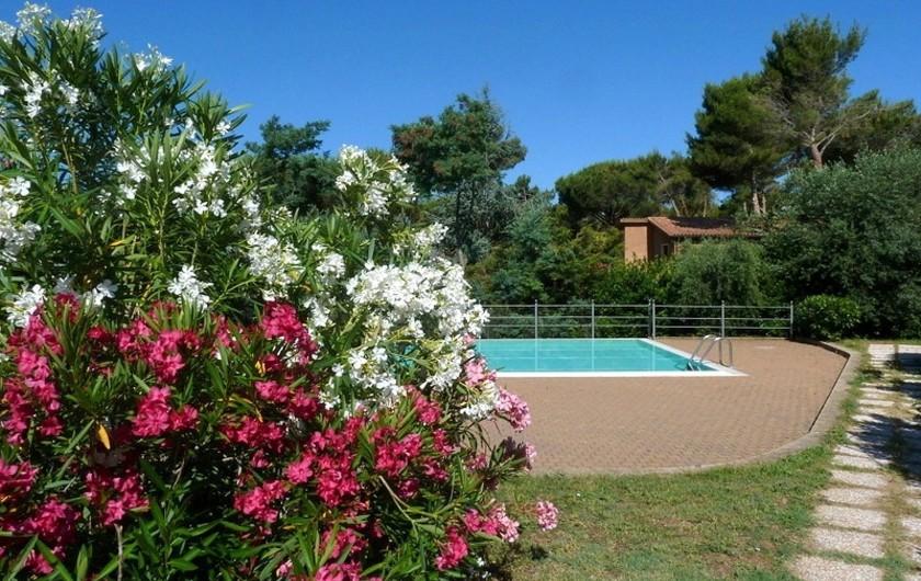 Location de vacances - Appartement à Guardistallo - Vue sur la piscine