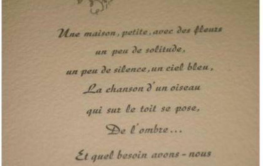 Location de vacances - Gîte à Saint-Cyprien - poème de V Hugo qui la décrit parfaitement