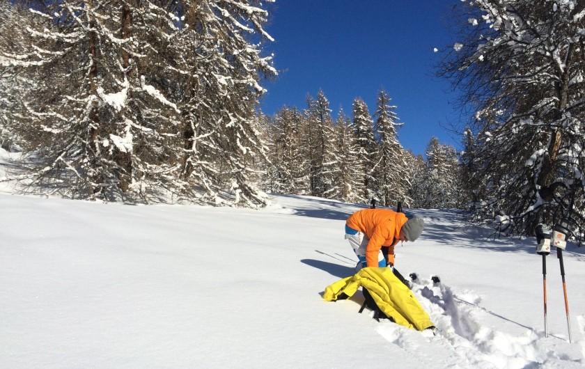 Location de vacances - Appartement à Puy-Saint-Vincent - ski de randonnée ou promenade en raquettes autour de la station