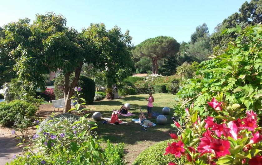 Location de vacances - Chambre d'hôtes à Cavalaire-sur-Mer - Gym douce offerte dans le jardin.