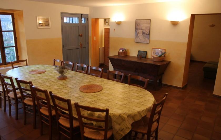 Location de vacances - Mas à Veaux - Salle à manger