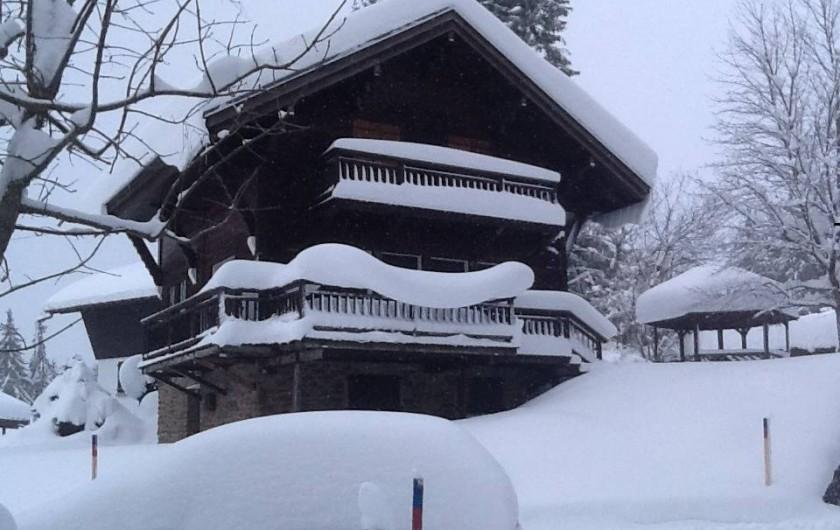 Location de vacances - Chalet à Megève - Sous la neige ...