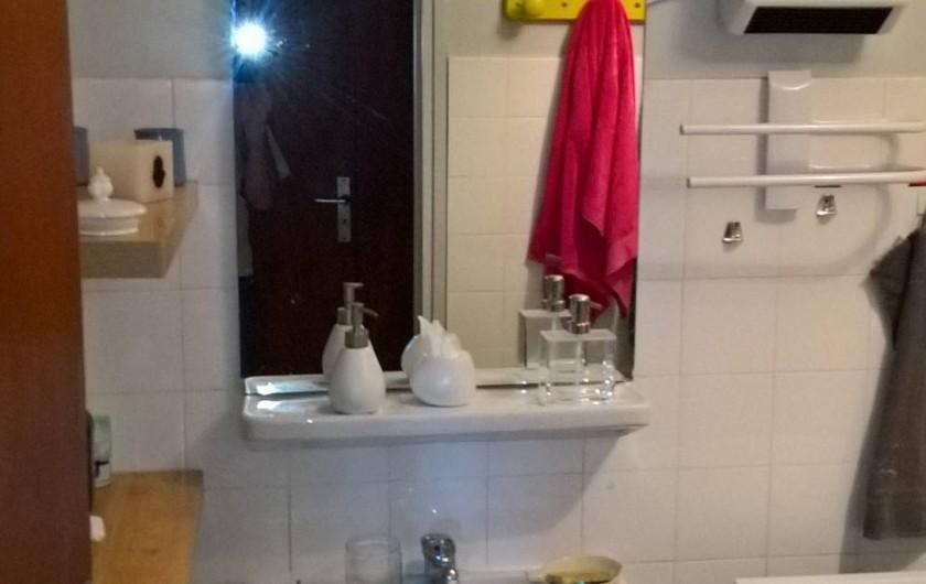 Location de vacances - Appartement à Le Grau-du-Roi - Salle d'eau: lavabo