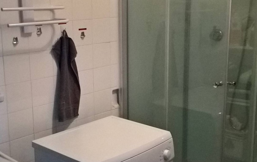 Location de vacances - Appartement à Le Grau-du-Roi - Salle d'eau: lave-linge et douche-cabine