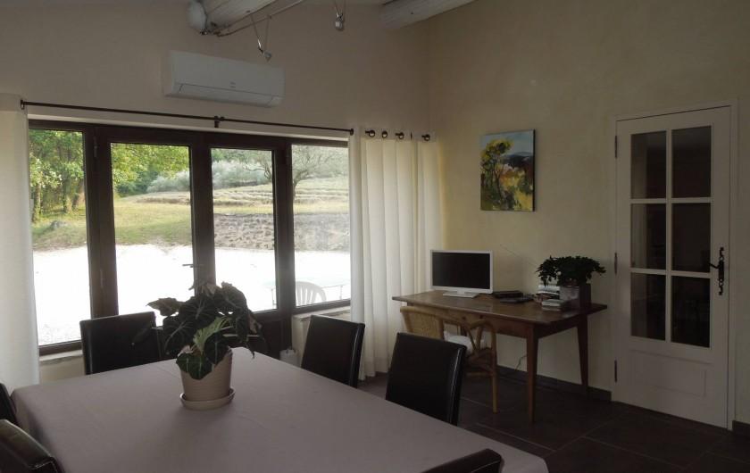 Location de vacances - Mas à Chantemerle-lès-Grignan - salle à manger