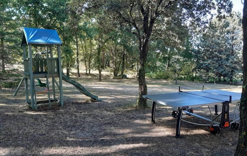Location de vacances - Mas à Chantemerle-lès-Grignan - jeux extérieurs