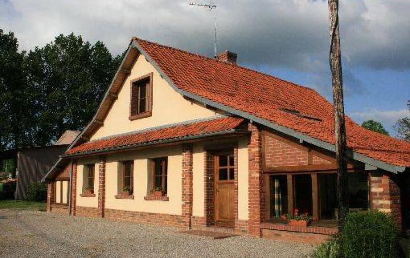 Location de vacances - Gîte à Frencq - Entrée du gite   .  façade .