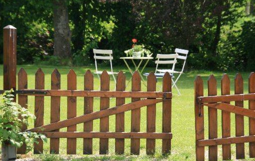Location de vacances - Gîte à Frencq - Entrée coté parc .