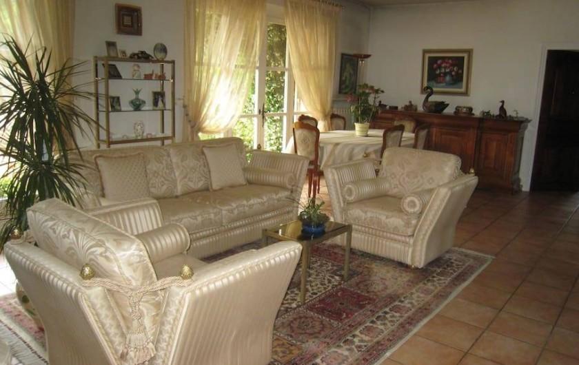 Location de vacances - Chambre d'hôtes à Mougins - Grand salon