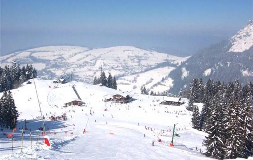 Location de vacances - Appartement à Bernex - photo des pistes de ski