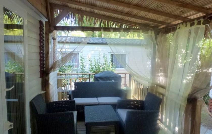 Location de vacances - Bungalow - Mobilhome à Fréjus - SALON TERRASSE