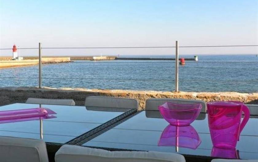 Location de vacances - Chambre d'hôtes à Guilvinec - Vue splendide  de la terrasse
