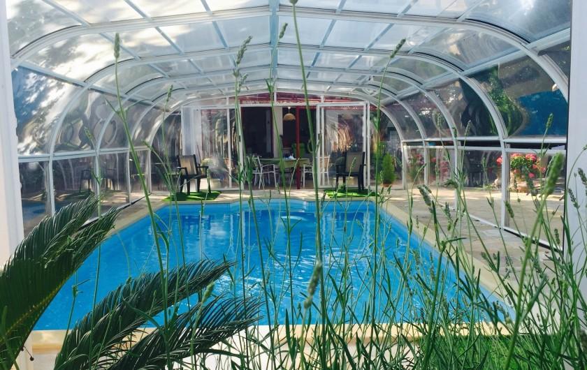 Location de vacances - Villa à Uzès - Piscine 4 x 8 ouverte ou fermée, chauffée