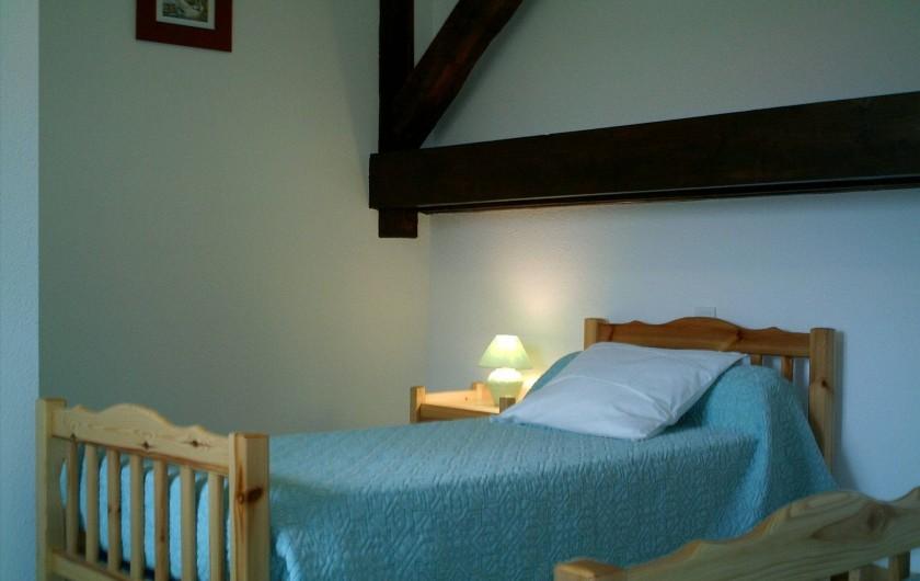 Location de vacances - Appartement à Gérardmer - chambre 2                           lit  1 personne