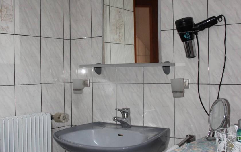 Location de vacances - Gîte à Nothalten - La salle d'eau avec douche